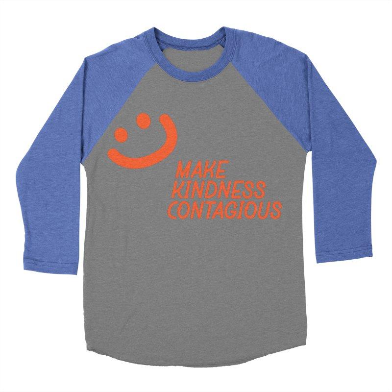 Simple Smile orange Women's Baseball Triblend Longsleeve T-Shirt by MakeKindnessContagious's Artist Shop