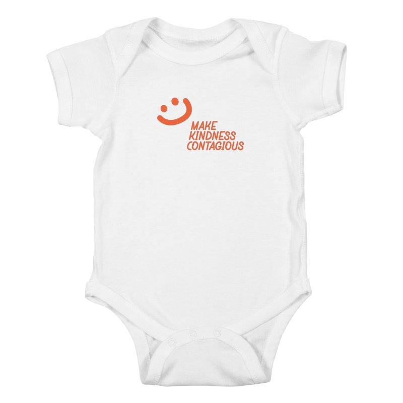 Simple Smile orange Kids Baby Bodysuit by MakeKindnessContagious's Artist Shop