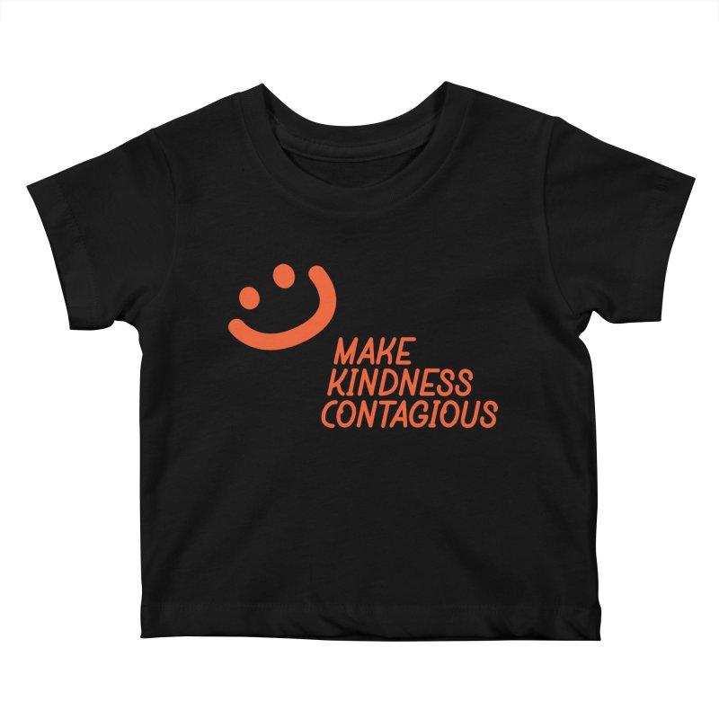 Simple Smile orange Kids Baby T-Shirt by MakeKindnessContagious's Artist Shop
