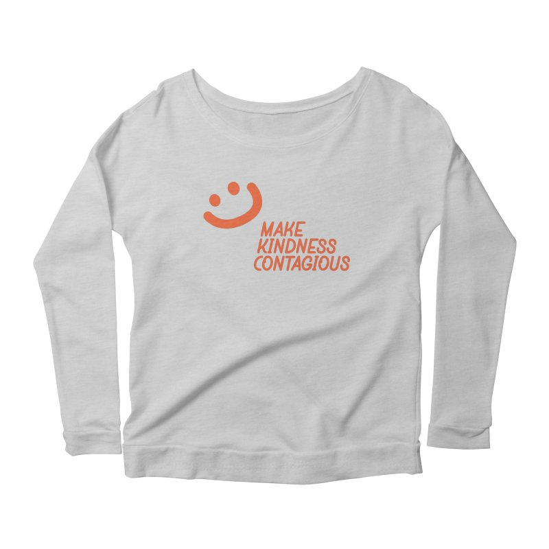 Simple Smile orange Women's Scoop Neck Longsleeve T-Shirt by MakeKindnessContagious's Artist Shop
