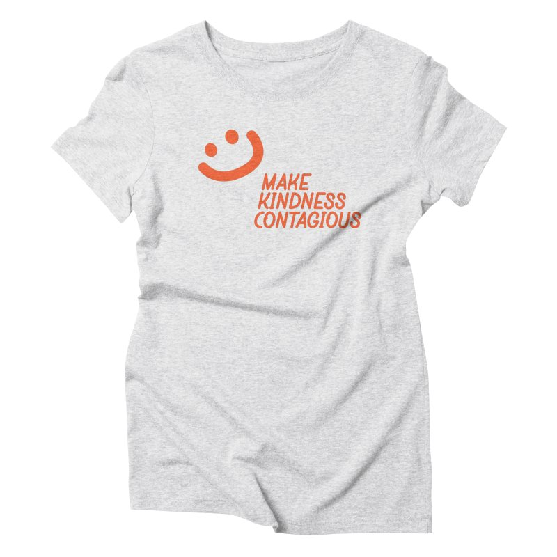 Simple Smile orange Women's Triblend T-Shirt by MakeKindnessContagious's Artist Shop