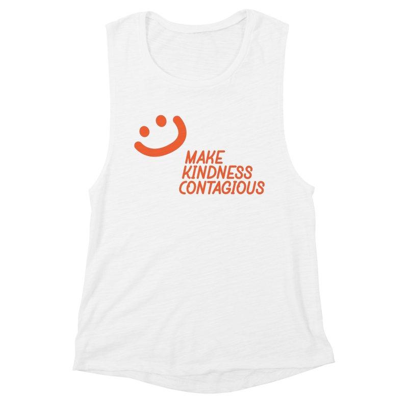 Simple Smile orange Women's Muscle Tank by MakeKindnessContagious's Artist Shop