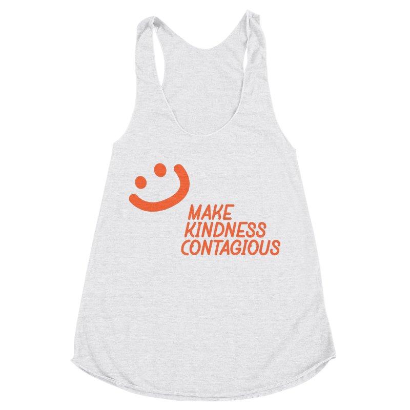 Simple Smile orange Women's Racerback Triblend Tank by MakeKindnessContagious's Artist Shop