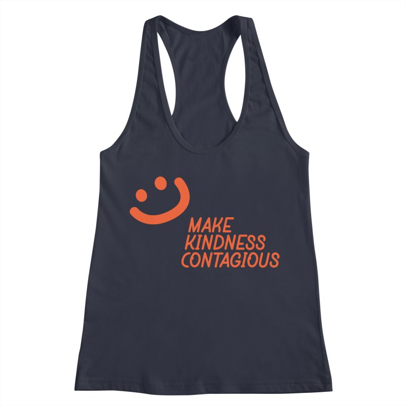 Simple Smile orange Women's Racerback Tank by MakeKindnessContagious's Artist Shop