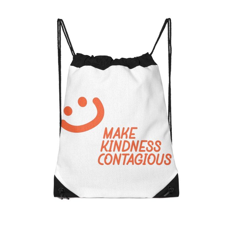 Simple Smile orange Accessories Drawstring Bag Bag by MakeKindnessContagious's Artist Shop
