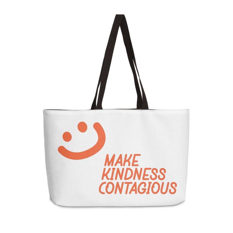 Simple Smile orange Accessories Weekender Bag Bag by MakeKindnessContagious's Artist Shop