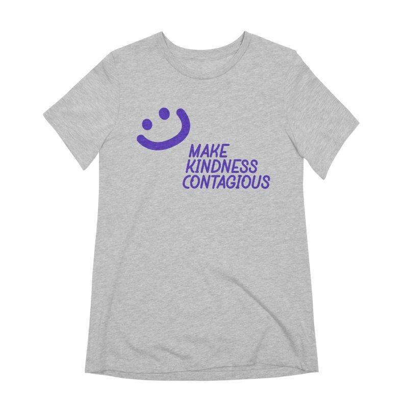 Simple Smile Purple Women's Extra Soft T-Shirt by MakeKindnessContagious's Artist Shop