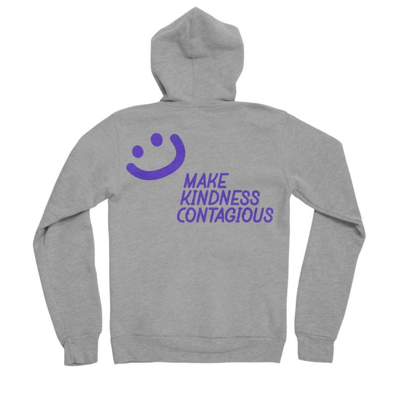 Simple Smile Purple Men's Sponge Fleece Zip-Up Hoody by MakeKindnessContagious's Artist Shop