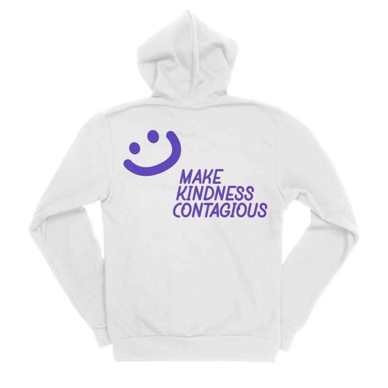 Simple Smile Purple Women's Sponge Fleece Zip-Up Hoody by MakeKindnessContagious's Artist Shop