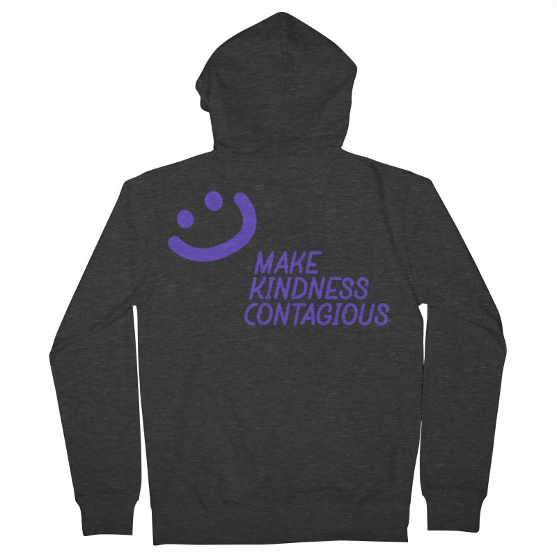 Simple Smile Purple Women's French Terry Zip-Up Hoody by MakeKindnessContagious's Artist Shop