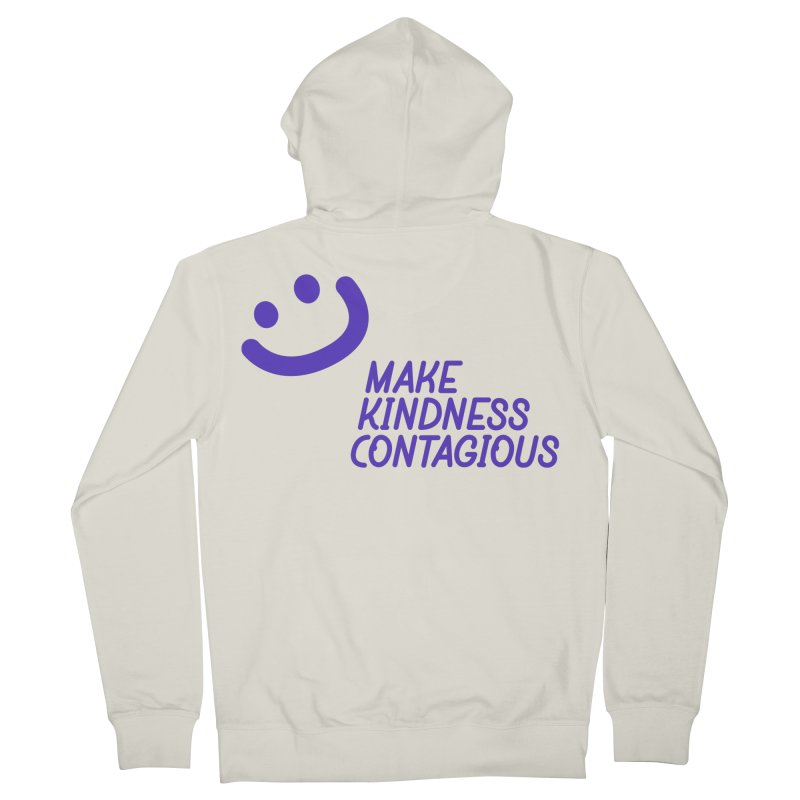 Simple Smile Purple Men's French Terry Zip-Up Hoody by MakeKindnessContagious's Artist Shop