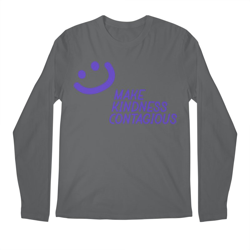 Simple Smile Purple Men's Regular Longsleeve T-Shirt by MakeKindnessContagious's Artist Shop