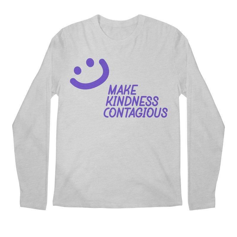Simple Smile Purple Men's Regular Longsleeve T-Shirt by MakeKindnessContagious's Artist Shop