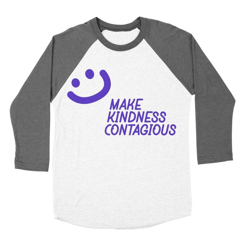 Simple Smile Purple Men's Baseball Triblend Longsleeve T-Shirt by MakeKindnessContagious's Artist Shop