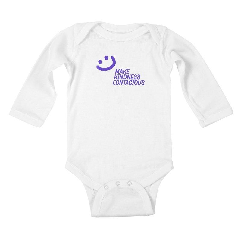 Simple Smile Purple Kids Baby Longsleeve Bodysuit by MakeKindnessContagious's Artist Shop