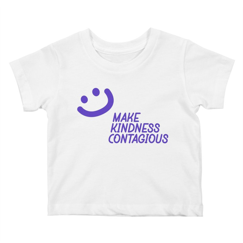 Simple Smile Purple Kids Baby T-Shirt by MakeKindnessContagious's Artist Shop