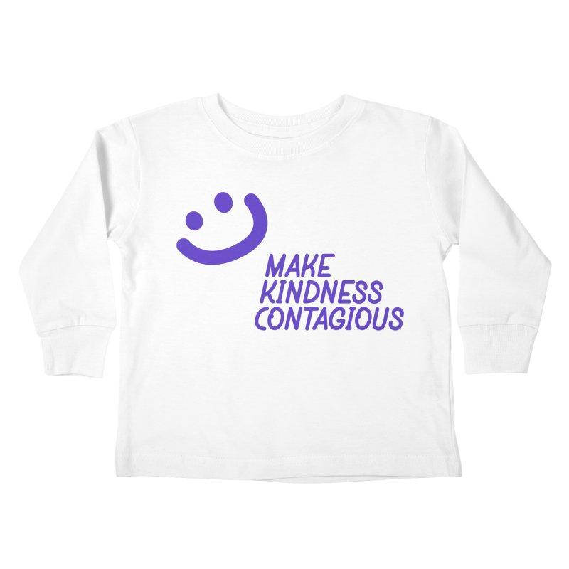 Simple Smile Purple Kids Toddler Longsleeve T-Shirt by MakeKindnessContagious's Artist Shop
