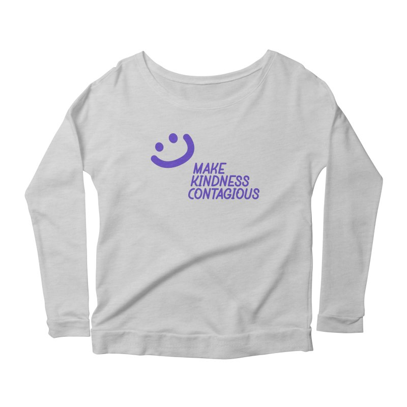 Simple Smile Purple Women's Scoop Neck Longsleeve T-Shirt by MakeKindnessContagious's Artist Shop