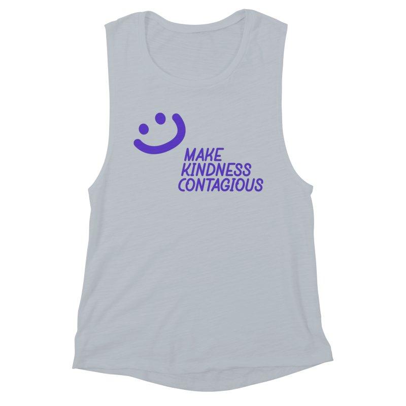 Simple Smile Purple Women's Muscle Tank by MakeKindnessContagious's Artist Shop