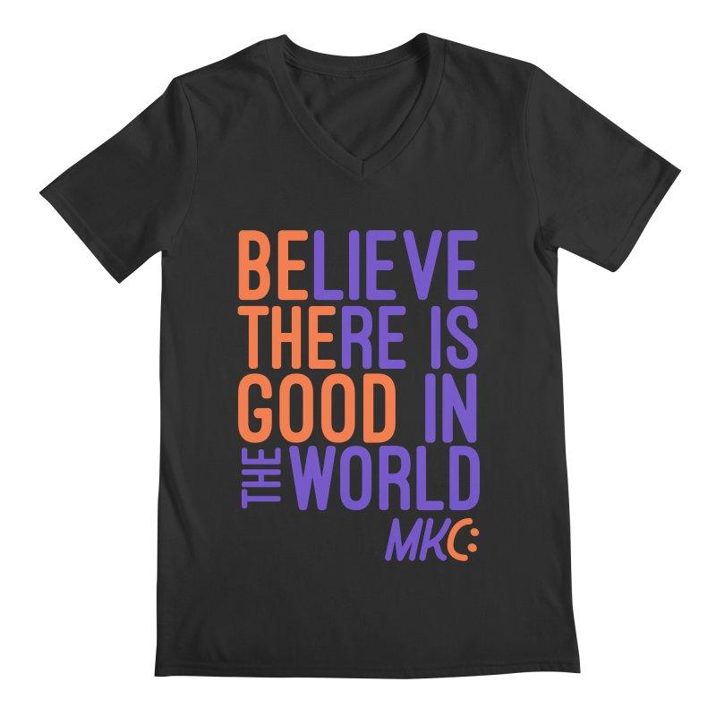 BE THE GOOD Men's Regular V-Neck by MakeKindnessContagious's Artist Shop