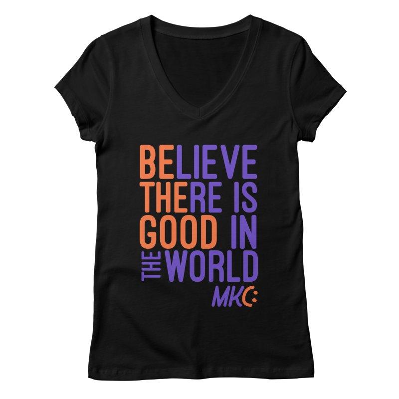 BE THE GOOD Women's V-Neck by MakeKindnessContagious's Artist Shop