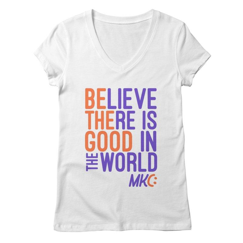 BE THE GOOD Women's Regular V-Neck by MakeKindnessContagious's Artist Shop