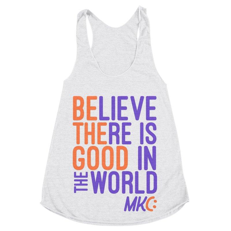 BE THE GOOD Women's Racerback Triblend Tank by MakeKindnessContagious's Artist Shop