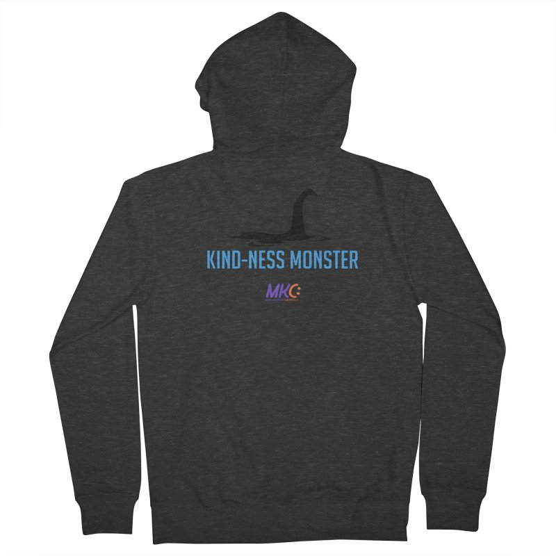 Kindness Monster Women's French Terry Zip-Up Hoody by MakeKindnessContagious's Artist Shop