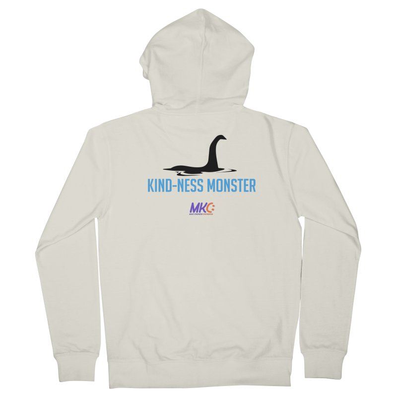 Kindness Monster Men's French Terry Zip-Up Hoody by MakeKindnessContagious's Artist Shop