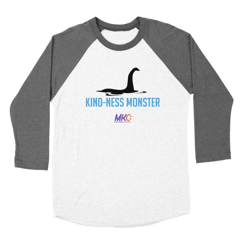 Kindness Monster Men's Baseball Triblend Longsleeve T-Shirt by MakeKindnessContagious's Artist Shop