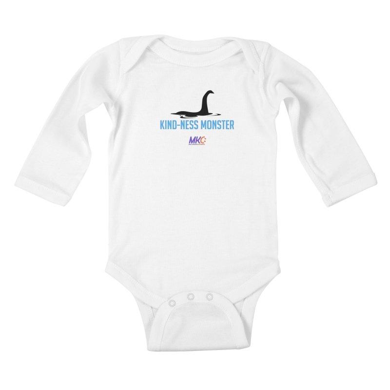 Kindness Monster in Kids Baby Longsleeve Bodysuit White by MakeKindnessContagious's Artist Shop