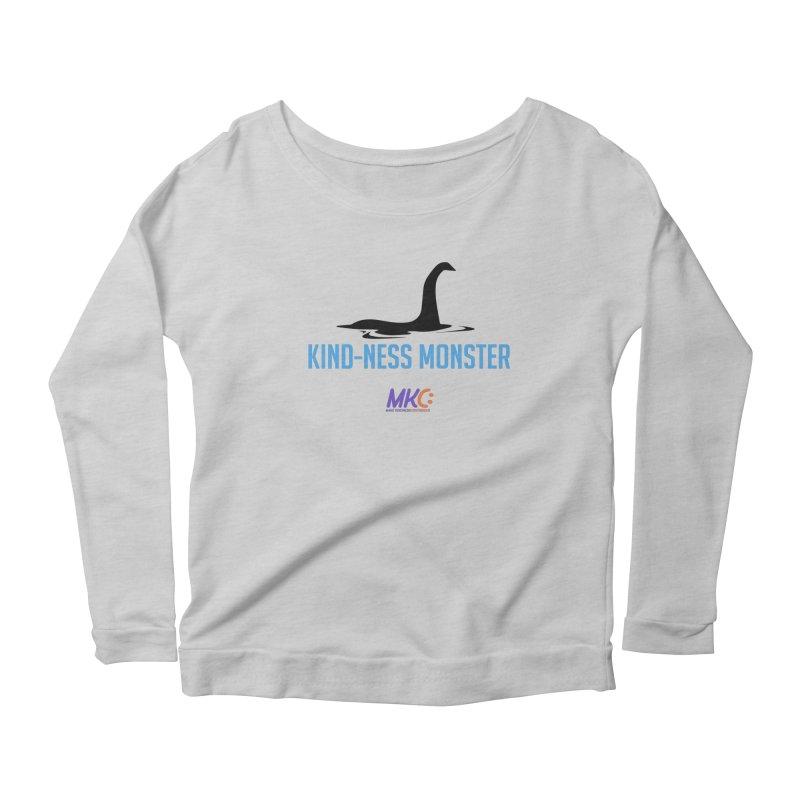 Kindness Monster Women's Scoop Neck Longsleeve T-Shirt by MakeKindnessContagious's Artist Shop