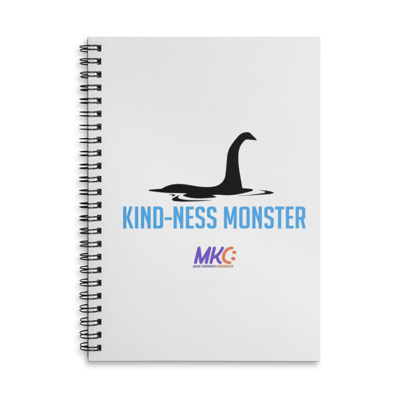 Kindness Monster Accessories Lined Spiral Notebook by MakeKindnessContagious's Artist Shop