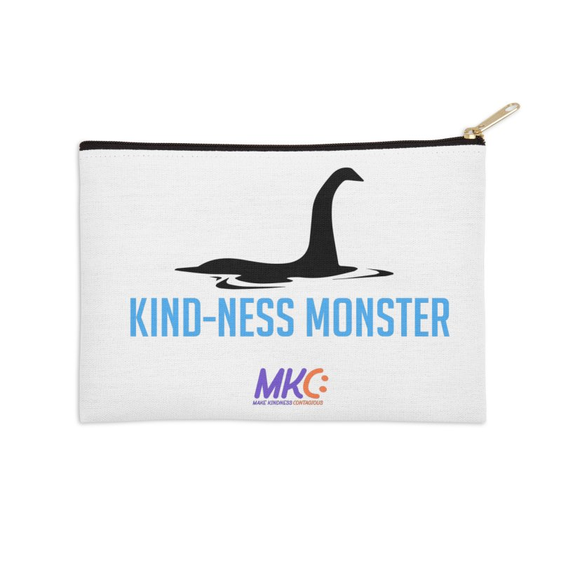 Kindness Monster Accessories Zip Pouch by MakeKindnessContagious's Artist Shop