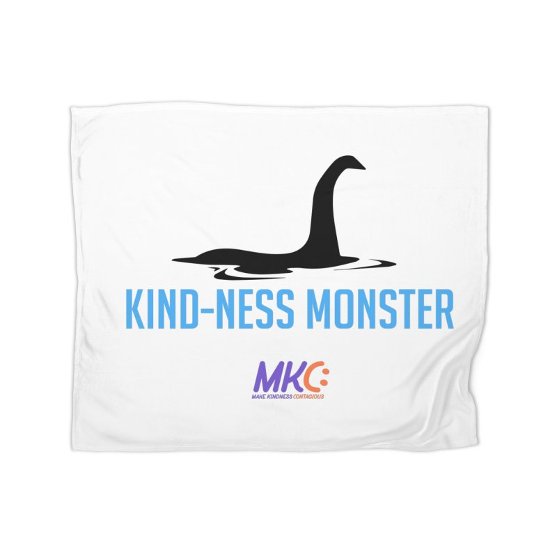 Kindness Monster Home Fleece Blanket Blanket by MakeKindnessContagious's Artist Shop