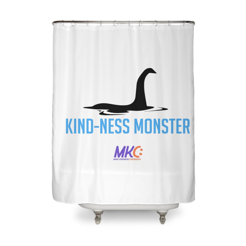 Kindness Monster Home Shower Curtain by MakeKindnessContagious's Artist Shop