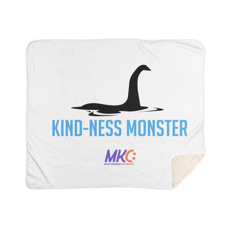 Kindness Monster Home Sherpa Blanket Blanket by MakeKindnessContagious's Artist Shop