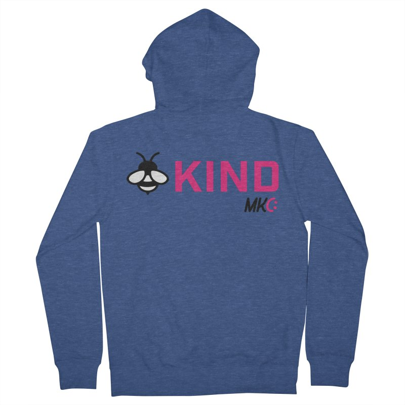 Bee Kind Women's French Terry Zip-Up Hoody by MakeKindnessContagious's Artist Shop