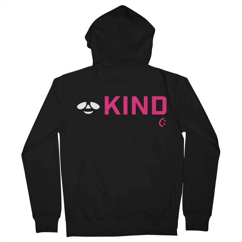 Bee Kind Men's French Terry Zip-Up Hoody by MakeKindnessContagious's Artist Shop