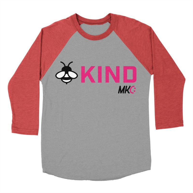 Bee Kind Men's Baseball Triblend Longsleeve T-Shirt by MakeKindnessContagious's Artist Shop
