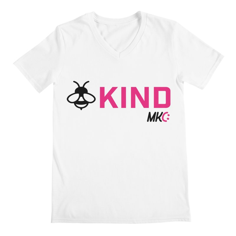 Bee Kind Men's V-Neck by MakeKindnessContagious's Artist Shop