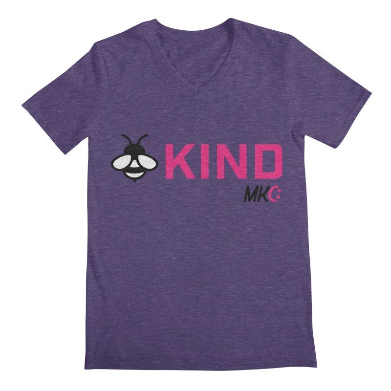 Bee Kind Men's Regular V-Neck by MakeKindnessContagious's Artist Shop