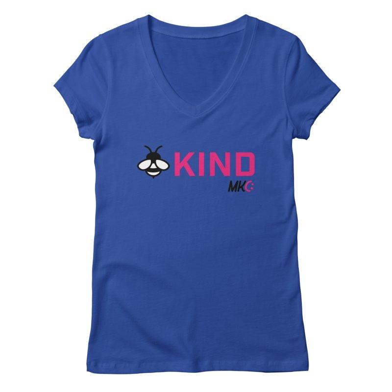 Bee Kind Women's V-Neck by MakeKindnessContagious's Artist Shop