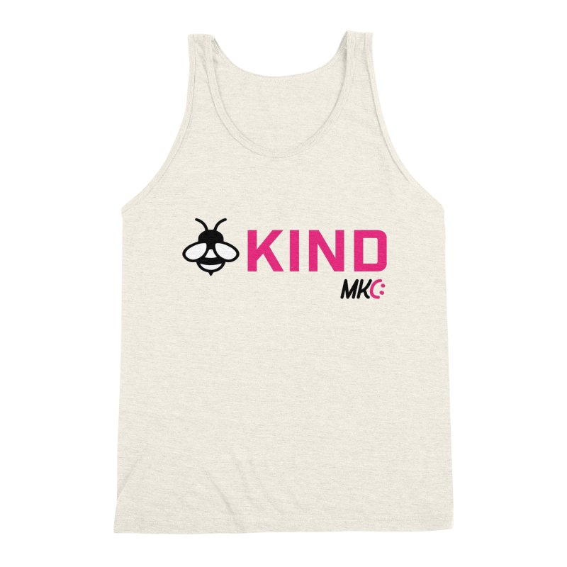 Bee Kind Men's Triblend Tank by MakeKindnessContagious's Artist Shop