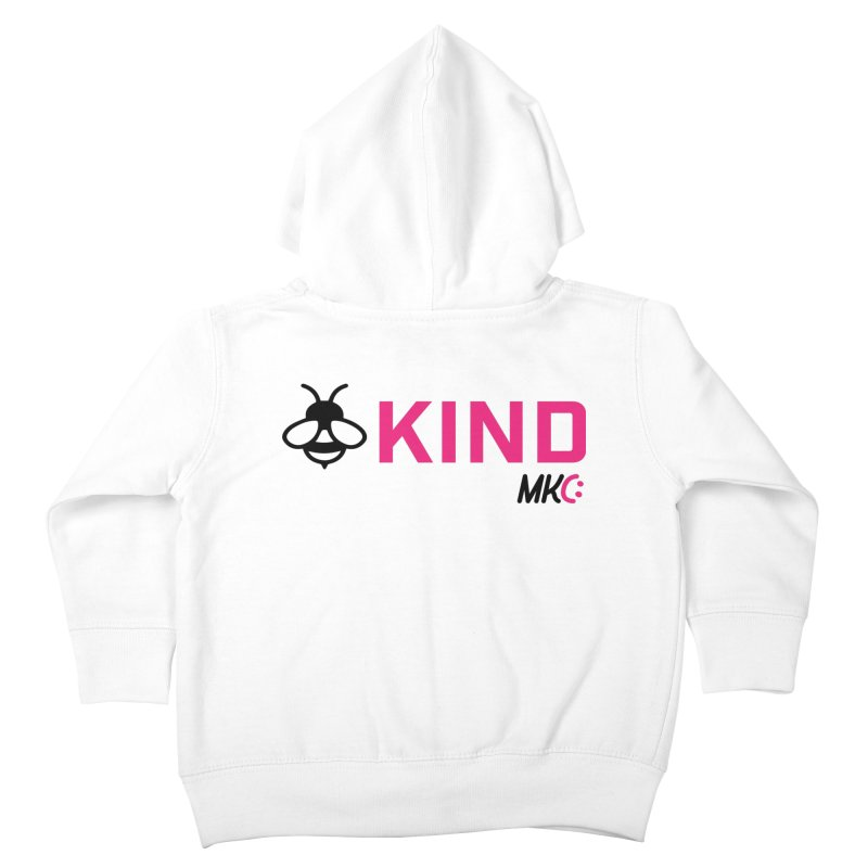 Bee Kind Kids Toddler Zip-Up Hoody by MakeKindnessContagious's Artist Shop