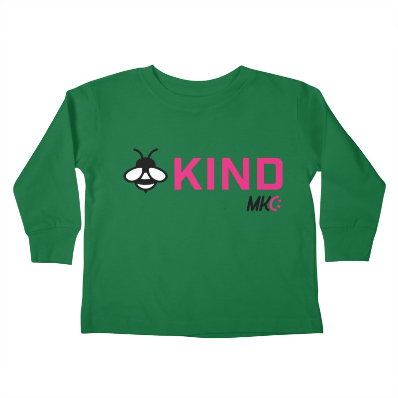 Bee Kind Kids Toddler Longsleeve T-Shirt by MakeKindnessContagious's Artist Shop