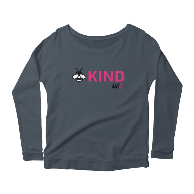 Bee Kind Women's Scoop Neck Longsleeve T-Shirt by MakeKindnessContagious's Artist Shop