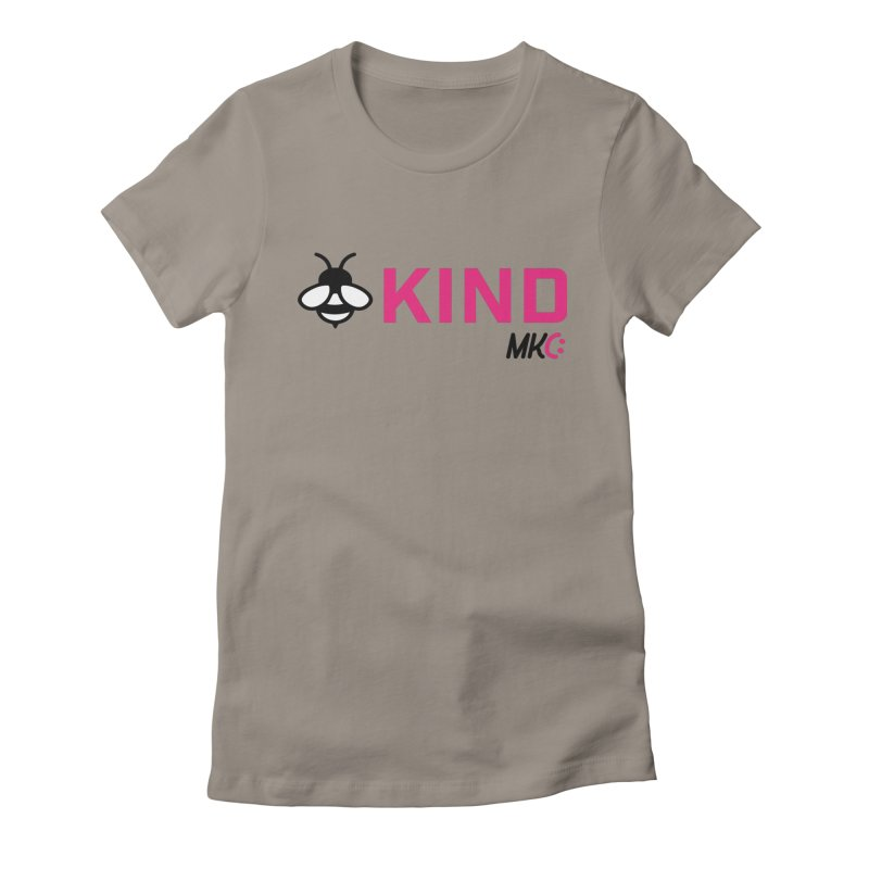 Bee Kind Women's Fitted T-Shirt by MakeKindnessContagious's Artist Shop