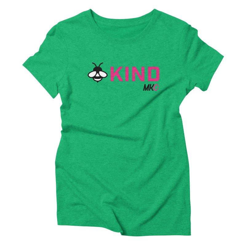 Bee Kind Women's Triblend T-Shirt by MakeKindnessContagious's Artist Shop
