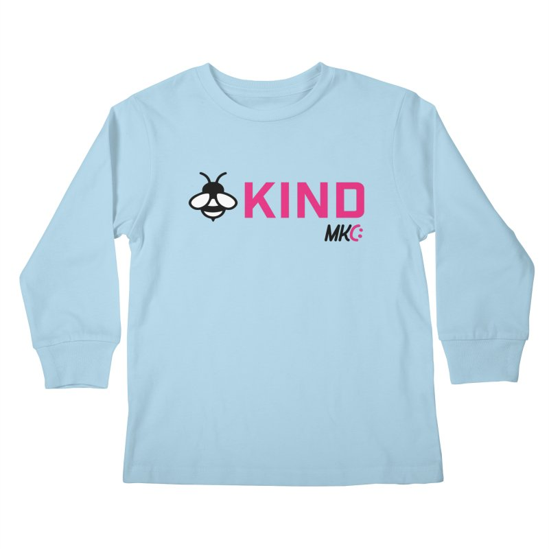 Bee Kind Kids Longsleeve T-Shirt by MakeKindnessContagious's Artist Shop